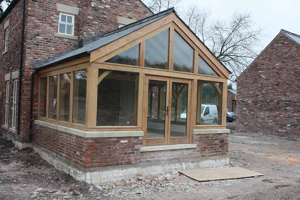 Case studies projects carvalo oak frames chester for Garden rooms near me