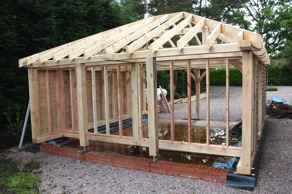 Case studies projects carvalo oak frames chester for A frame garage with loft