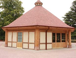 Carvalo Oak Framed Pool Buildings