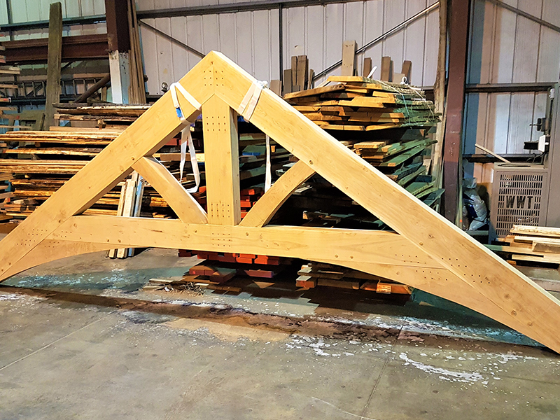 Carvalo Oak framed trusses