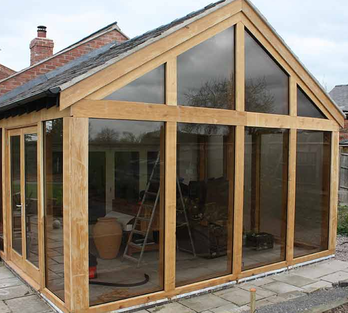 An Oak Frame Home Built For Under 200k: Conservatory Planning Permission
